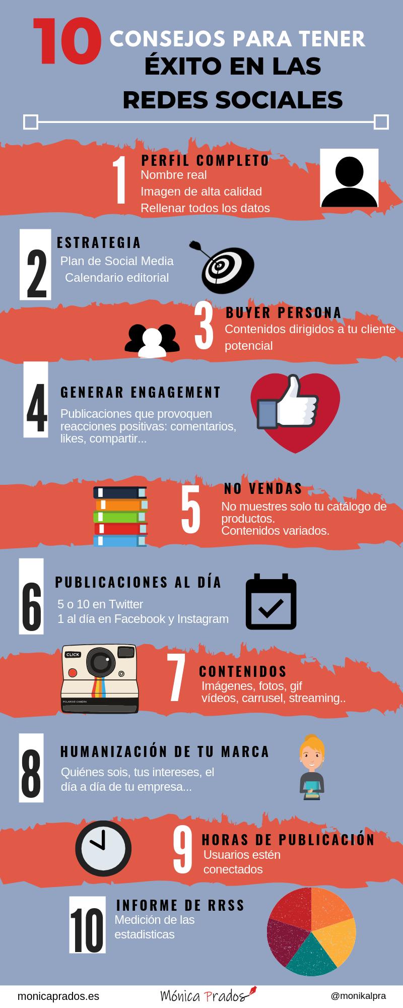 infografia consejos para hacer marketing en redes sociales